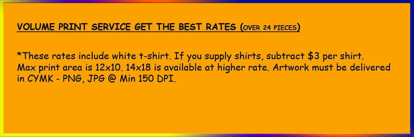 T-Shirt Printing Services – Best Rates on Single Color Printing
